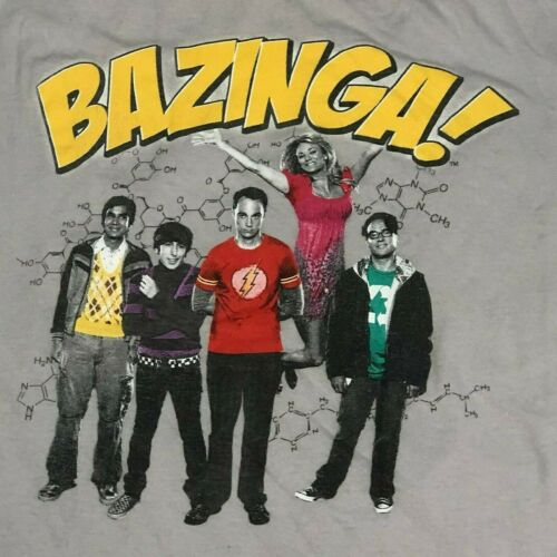 The Big Bang Theory Bazinga Group Authentic T-Shir