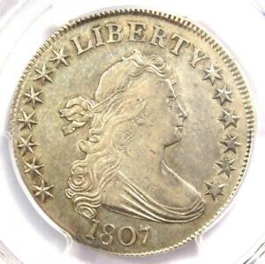 1807-Draped-Bust-Half-Dollar-50C-Coin-O-104-PCGS-AU-Details-Rare-in-AU