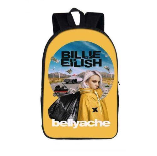 New Billie Eilish 3D Printed Polyester Backpack Schoolbag Knapsacks Travel bag