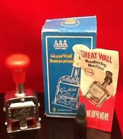 Great Wall Numbering Machine Stamp Model 45