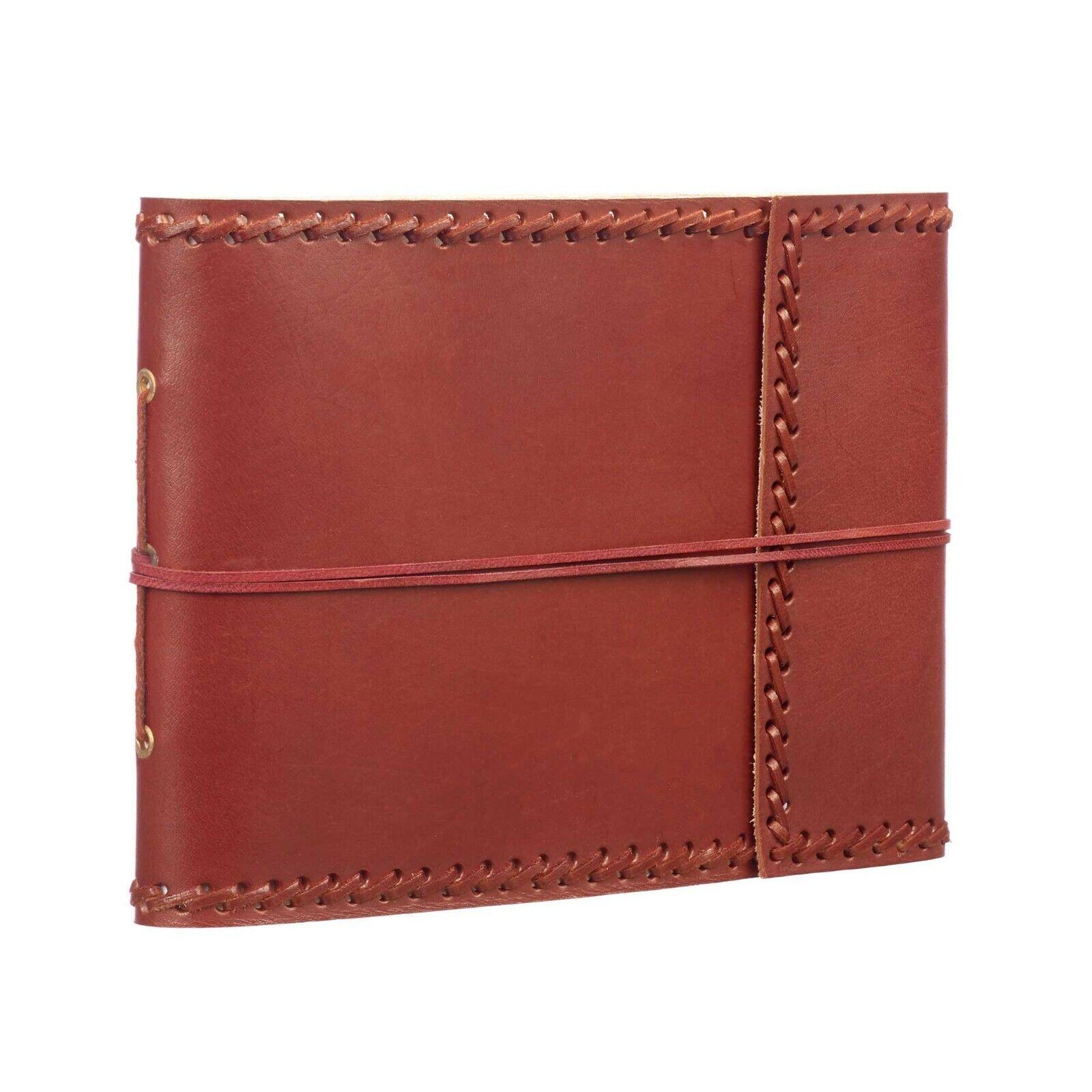 Medium Stitched Leather Album - Fair Trade Handmade Scrapbook - 2nd Quality