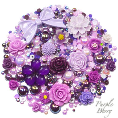 Mix Set PASTEL TONES Flatback Cabochons /& Pearl Diamantes Embellishment Decoden