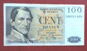 Belgique-Joli-Billet-de-100-Francs-du-09-12-1958