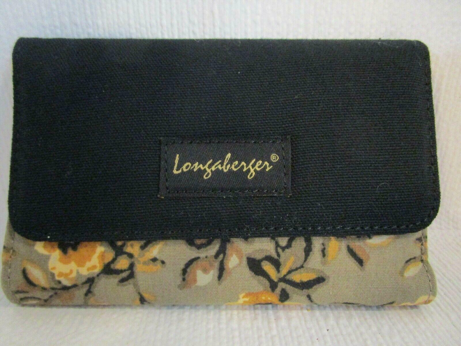 LONGABERGER Ladies' Tri-Fold Wallet Zippered Coin Purse