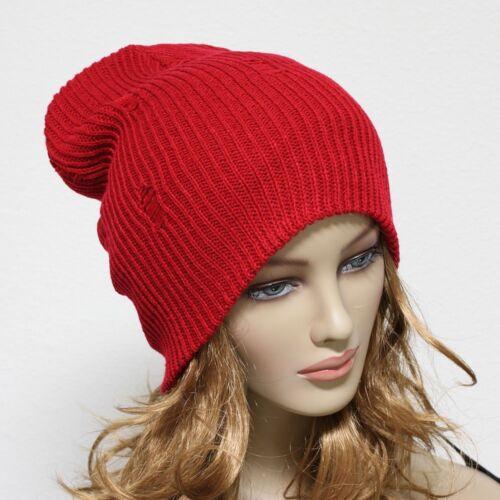 Men/'s Women Beanie Cap Knit Oversize Baggy Vintage Slouchy Ski Snow Winter Hat