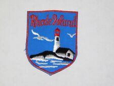 NOS Vtg Rhode Island Light House Beach Souvenir Jacket Embroidered Patch Badge