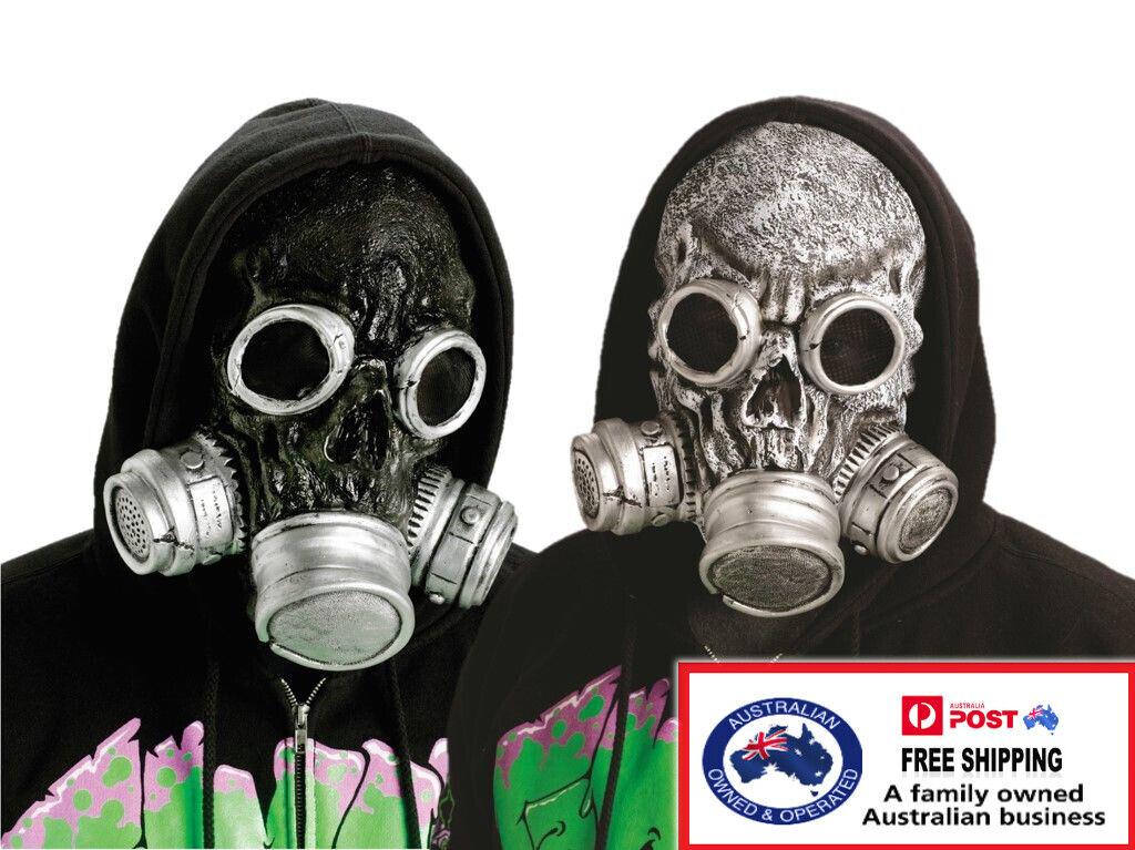 Biohazard Bio Chemical Zombie Horror Gas Mask Halloween Costume Accessory