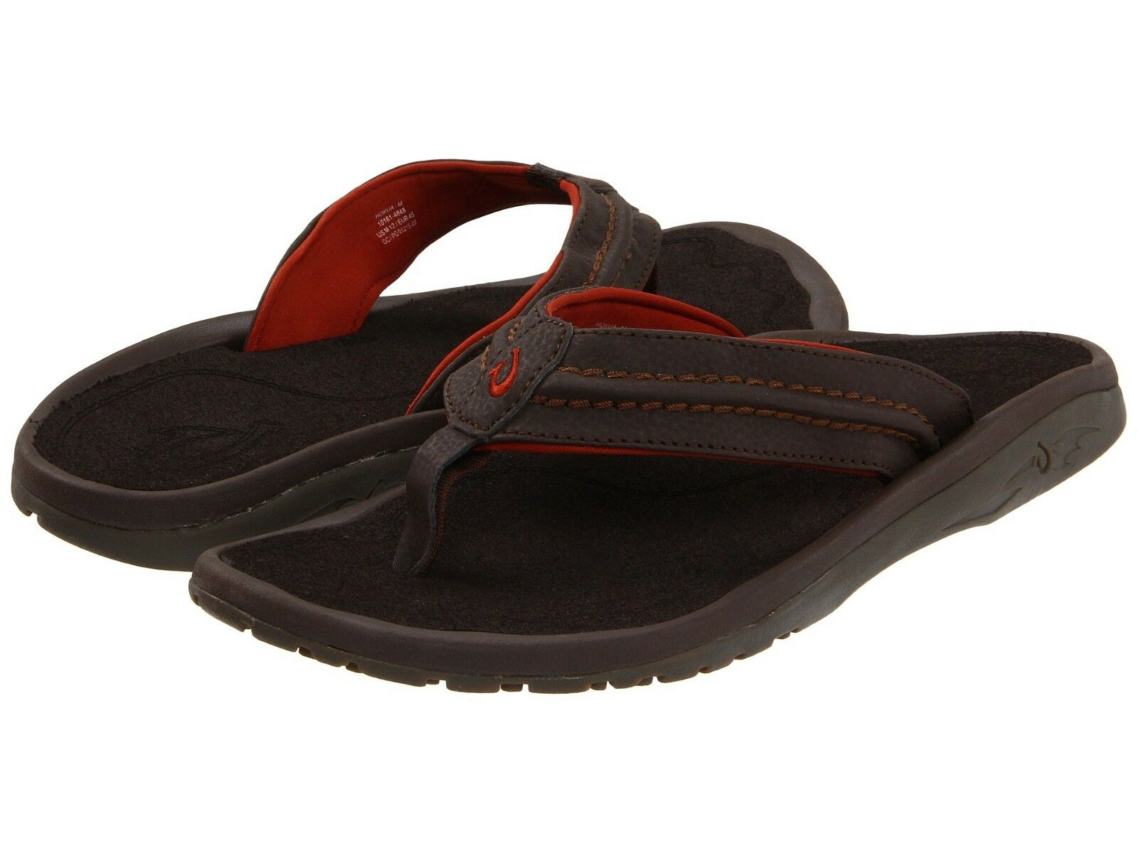 Chaussures Hommes OLUKAI Hokua Casual Sandales en cuir 10161-4848 Dark Java  NEUF