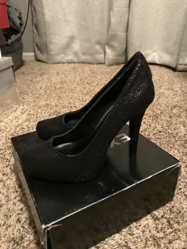 Sequin Black Mini Pompe Taille Express 9 Zw7OccqTEC