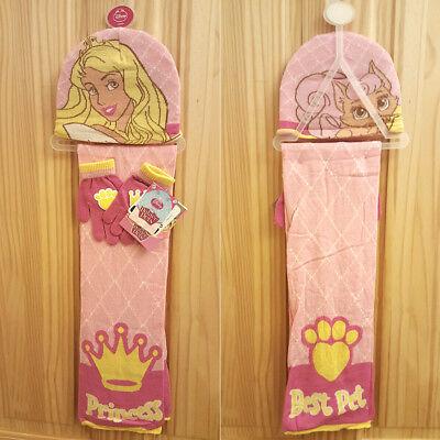 Disney Princess/palace Pets-edizione Limitata Cappello Corrispondenza Sciarpa & Guanti Set!-