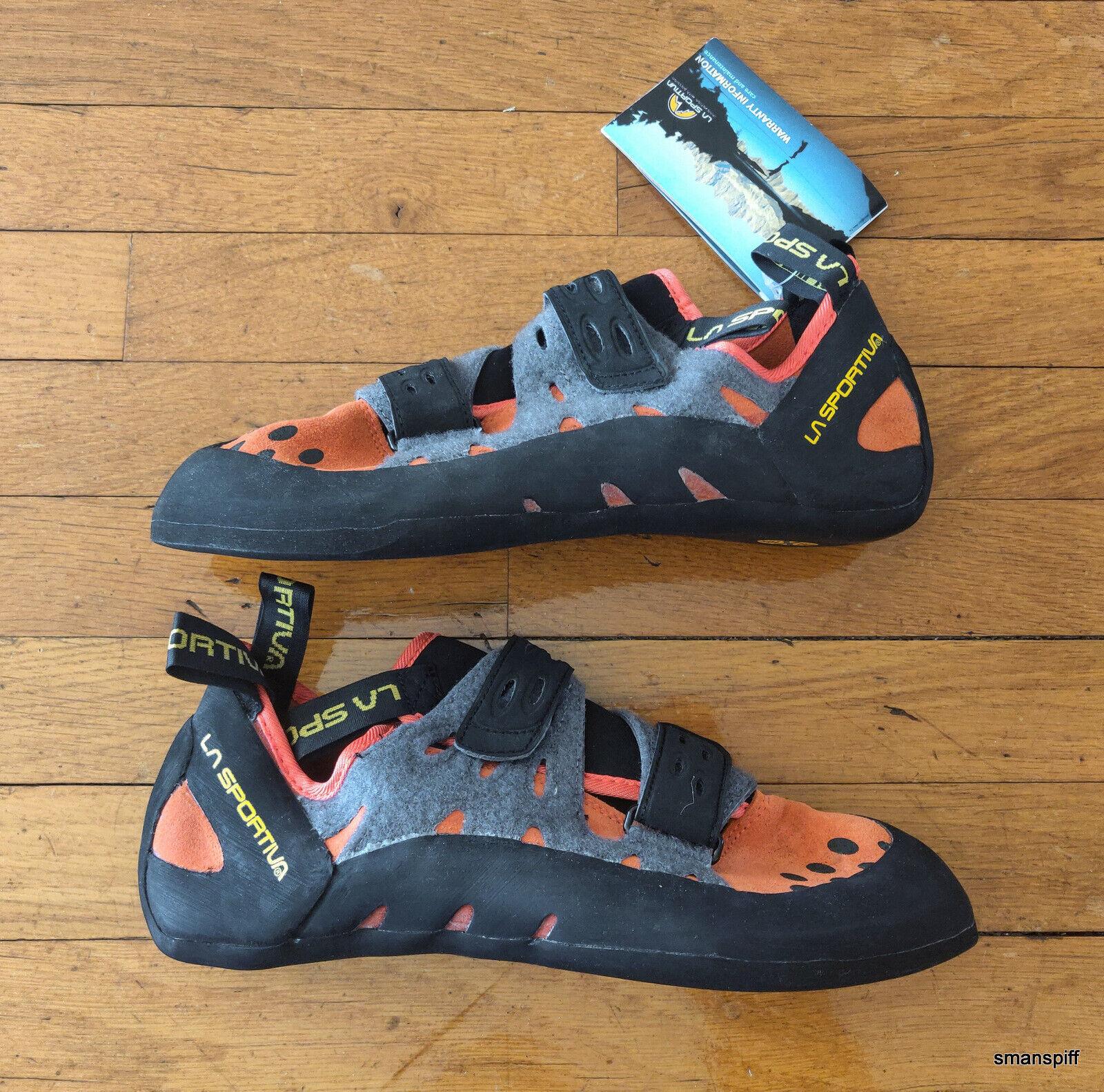 La Sportiva Men's Tarantula FriXion Velcro Beginner Climbing  shoes Flame US 11.5  online fashion shopping