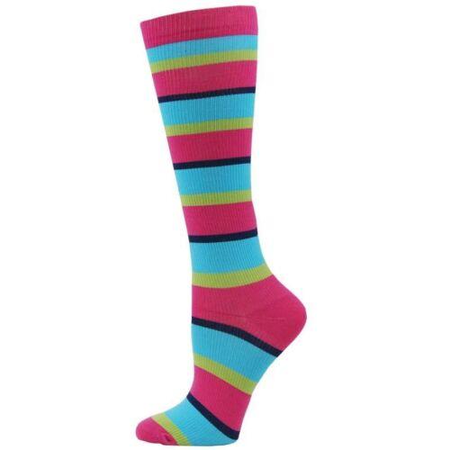 Multi Stripe Medical Nurse 10-14mmHG Fashion Compression Socks