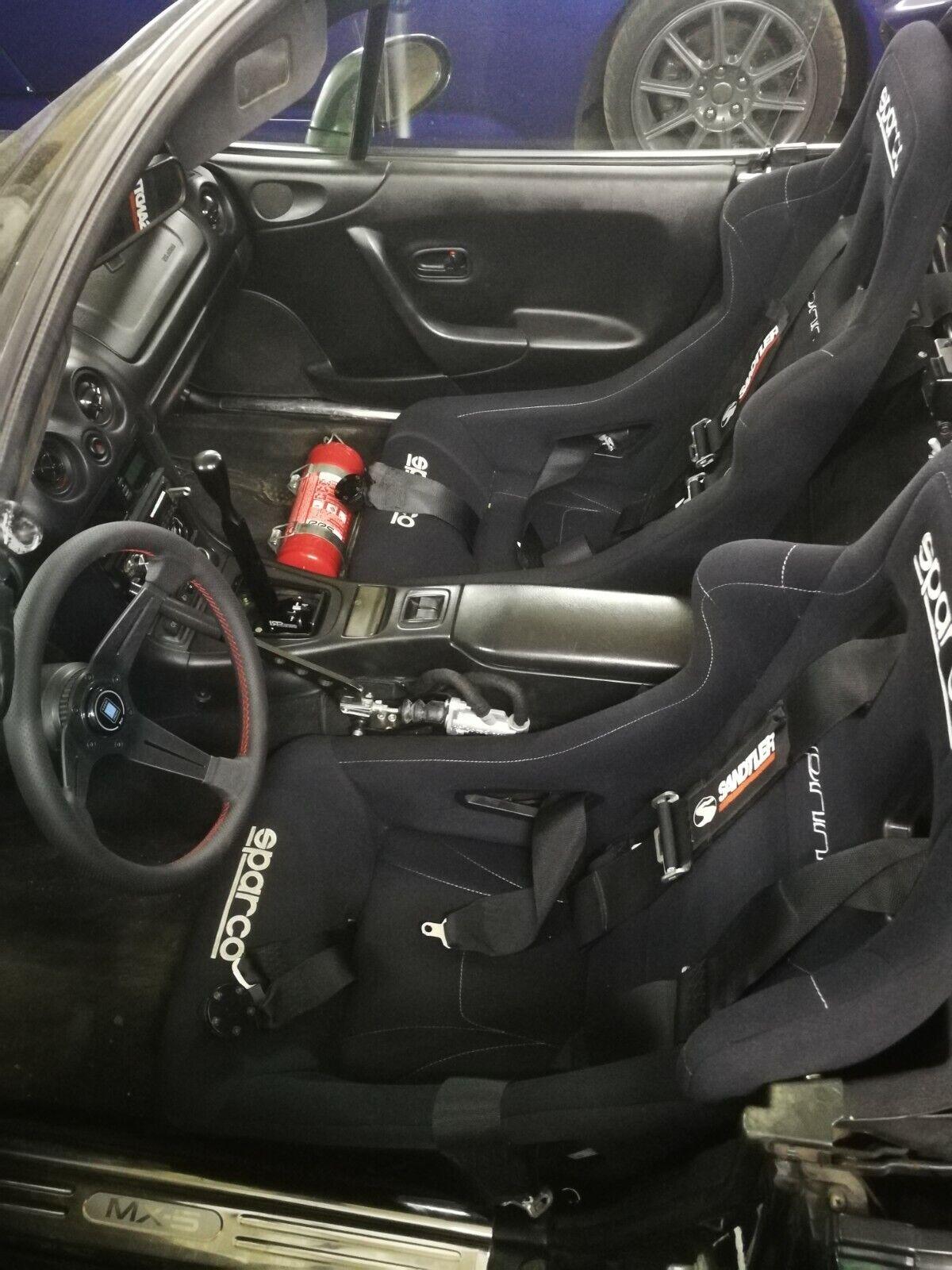 - Part #SB109DR Driver Seat Bracket for MOMO // NRG // Sparco // Recaro // Bride // OMP 1998-2005 Mazda Miata NB