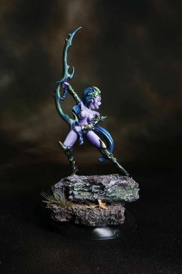 Raging Heroes Dark Elf Blood Vestal RPG Warhammer Fighter Assassin D&D Pro Paint