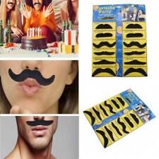 12pcs//set Costume Party Halloween Fake Mustache Funny Fake Beard Whisker  Z