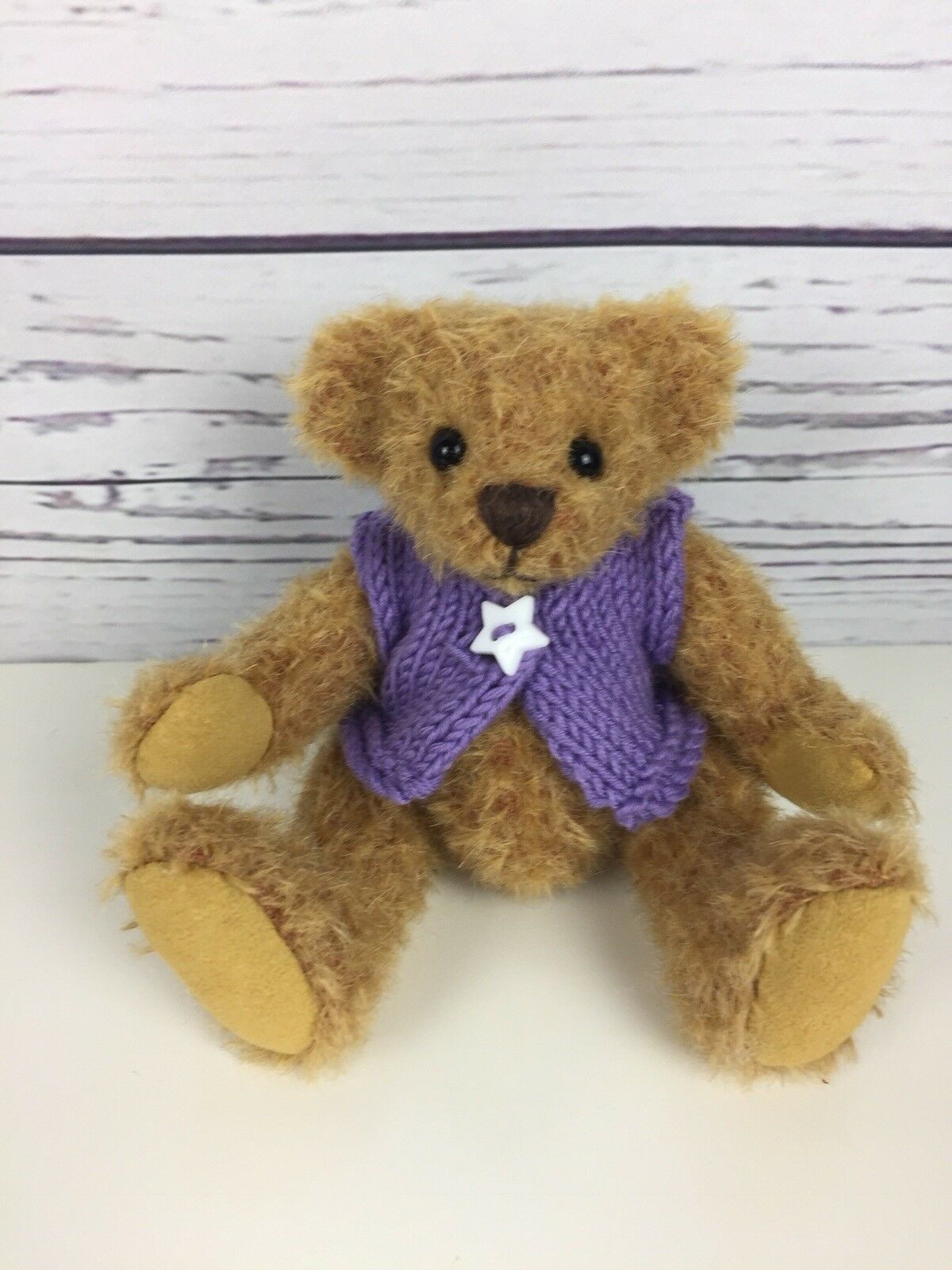 Chayden ORSI Violet Star ooak handmade MINI Mohair ARTISTA TEDDY BEAR 5