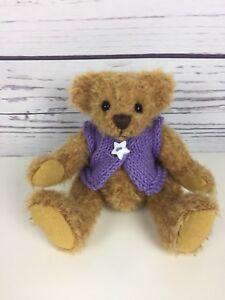 "Chayden Bears Violet Star OOAK Handmade Mini Mohair Artist Teddy Bear 5"""