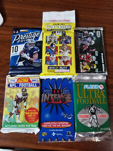 1990-2019 NFL Football Factory Sealed 6 Pack Lot: Yesterday/Today Special #3