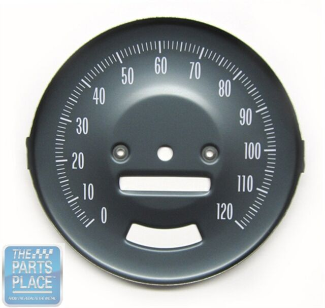 1966-67 Pontiac GTO OE Factory Steel Speedometer Face With Rally Gauges