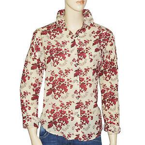 talla Maison 0 gran de beige camisa Scotch mujer icónicos Burdeos patrones tamaño gFvqpRw