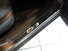 MAZDA CX-3 Edelstahl Carbon STYLE Einstiegsleisten mit LOGO