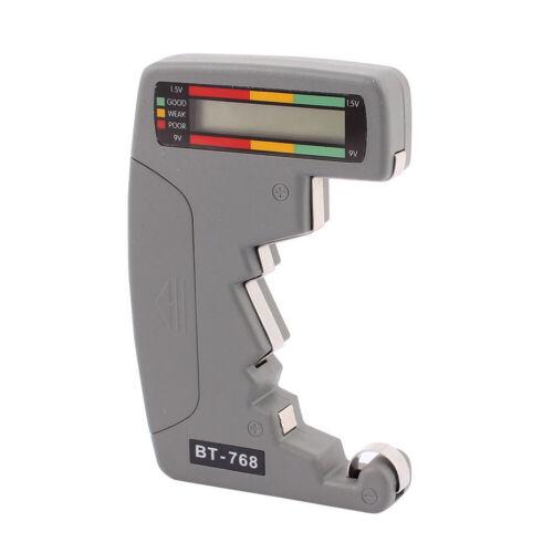 BT-768 Digital LCD Battery Tester Universal For testing 9V 1.5V C AA AAA D #SO7