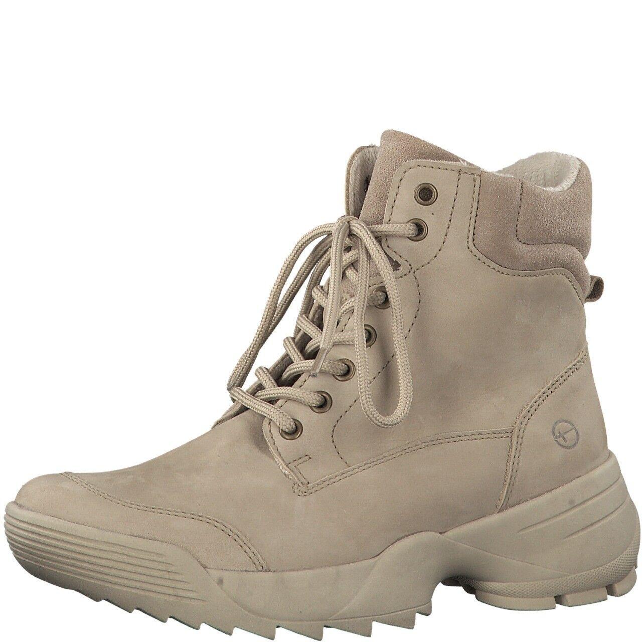 Tamaris Halbschuh Stiefel removable footbed derb dicke Sohle riva schuh