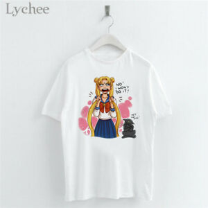 Harajuku-Anime-Sailor-Moon-Girl-T-Shirt-Short-Sleeve-O-Neck-Casual-Women-Tops