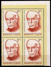 HUNGARY 1989-J.L. Nehru-Block of 4-MNH