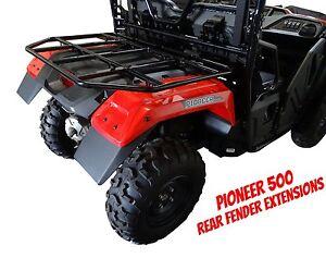 honda pioneer  utv rear fender extensions mud flaps  mudbusters ebay