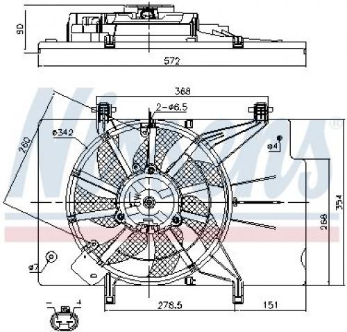 FEBI BILSTEIN 106017 Lüfter für Motorkühlung für FORD