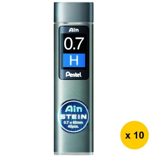 10tubes Pentel Ain Stein C277-H 0.7mm Refill Leads