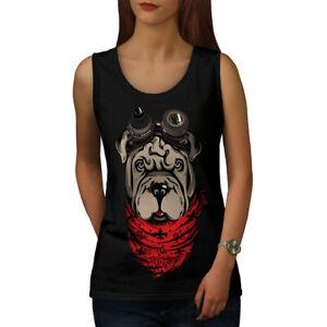 Inventif Wellcoda Shar Pei Pilote Femme Tank Top, Mignon Chien Athletic Sports Shirt-afficher Le Titre D'origine