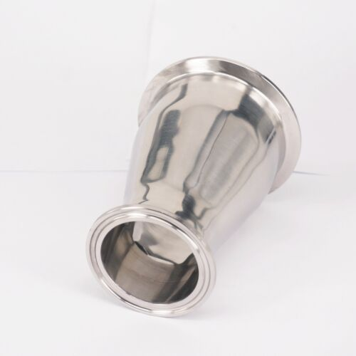 """76mm to 51mm Pipe OD 3/"""" to 2/"""" Tri Clamp SUS304 Sanitary Reducer Homewbrew"""