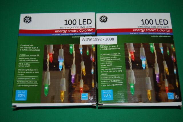 GE Energy Smart 100 ConstantON LED Multi-Color Mini Colorite CHRISTMAS LIGHT