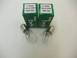 Lucas 12V 21W//5W Pair Stop /& Tail Classic Car Lamp Bulbs GLB380 Lucas LLB380