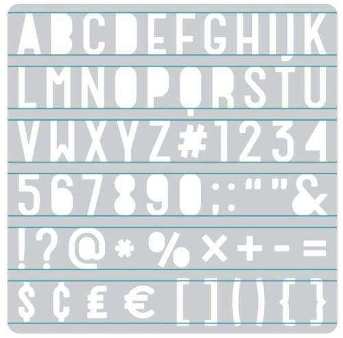 We R Memory Keepers  Accessory ~ HEATWAVE STENCIL ~ SANS SERIF Alphabet ~662661