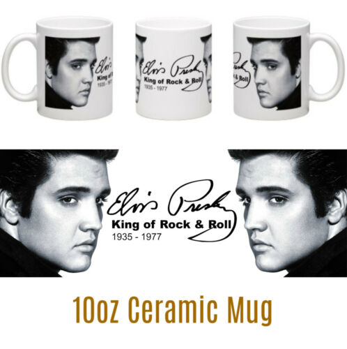 Elvis Presley signature personalised ceramic mug /& glossy drinks coaster gift