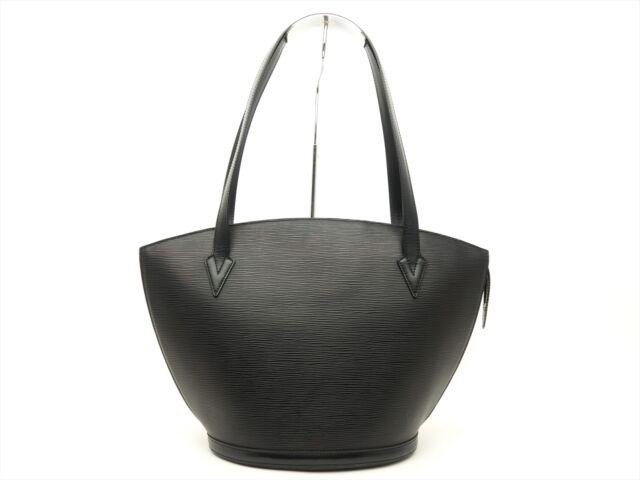 Louis Vuitton Auth Epi Leather Black Saint Jacques Ping Tote Shoulder Bag Lv