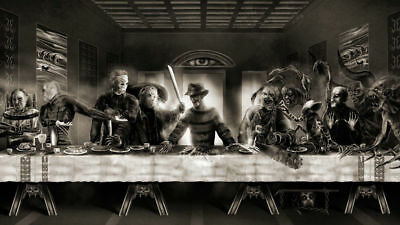 Details about  /C289P he Last Supper Freddy vs Jason Horror Movie Funny Poster Art Hot Gift