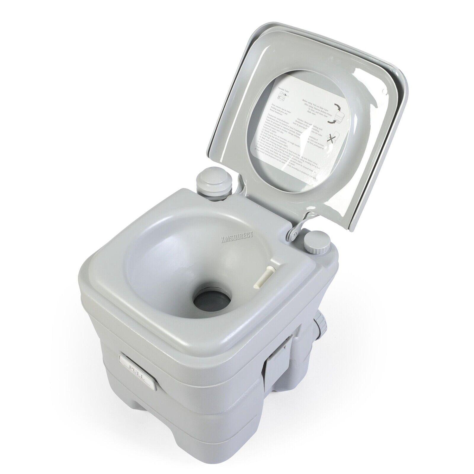 FoxHunter 20L Portable Toilet Flush Caravan Camping Travel WC Loo Porta Potty 6