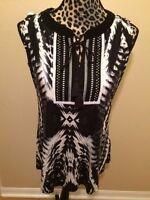 Rxb - Gray Black White Blouse - S