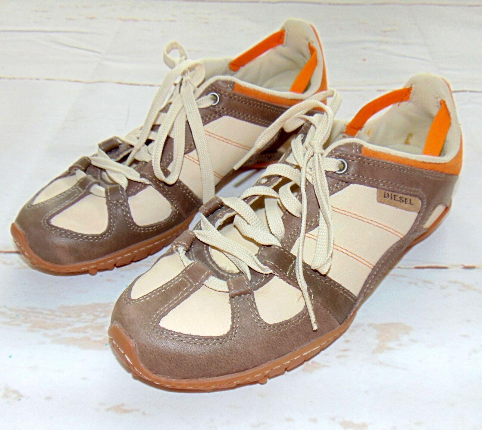 Women's Diesel Whitney en Daim Cuir Lacets Baskets Chaussures Taille 8 excellent état utilisé