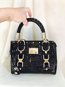 6d19979c89 Image is loading VERSACE-COUTURE-Black-Patent-Leather-MADONNA-034-Snap-