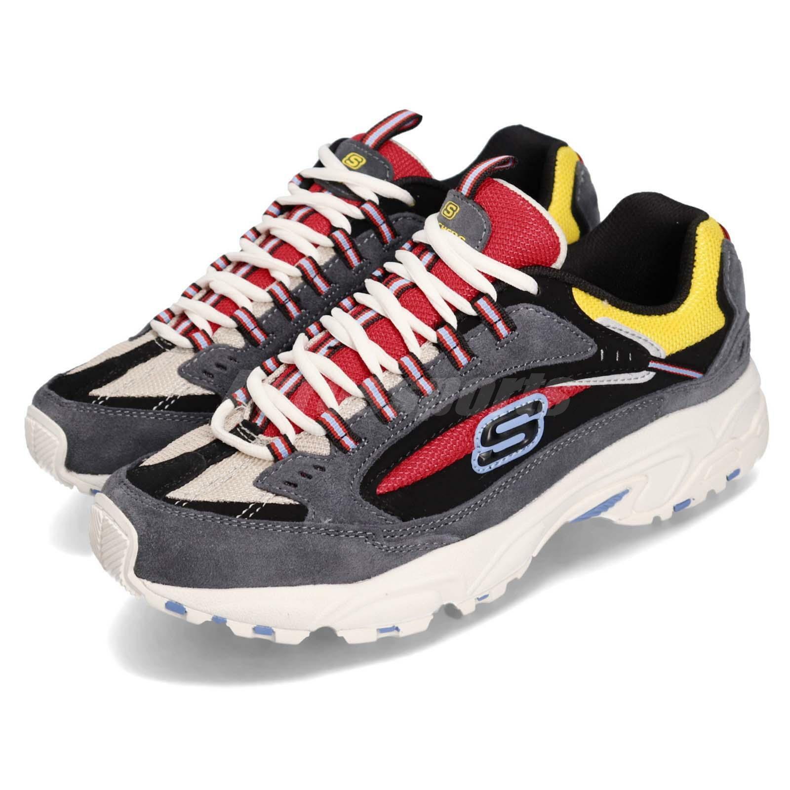 Skechers Stamina-Cutback gris rojo amarillo negro Men Lifestyle zapatos 51286-CCRD