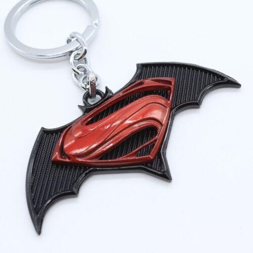 Schlüsselanhänger Batman V Superman Metall Schwarz//Rot Schlüsselanhänger