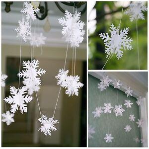 Parti-Papier-Snowflake-Garland-Bunting-Banniere-de-Noel-Mariage-Decorations-3-metres