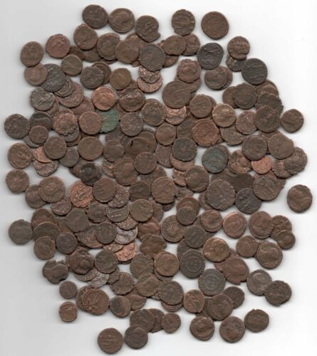 Over 1500 Years Old! FIFTY  Cleaned Roman Coins Guaranteed Authentic