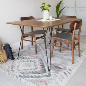 Distressed Multi Tribal Rug Boho Flatwoven Transitional Aztec Living Room Rugs Ebay