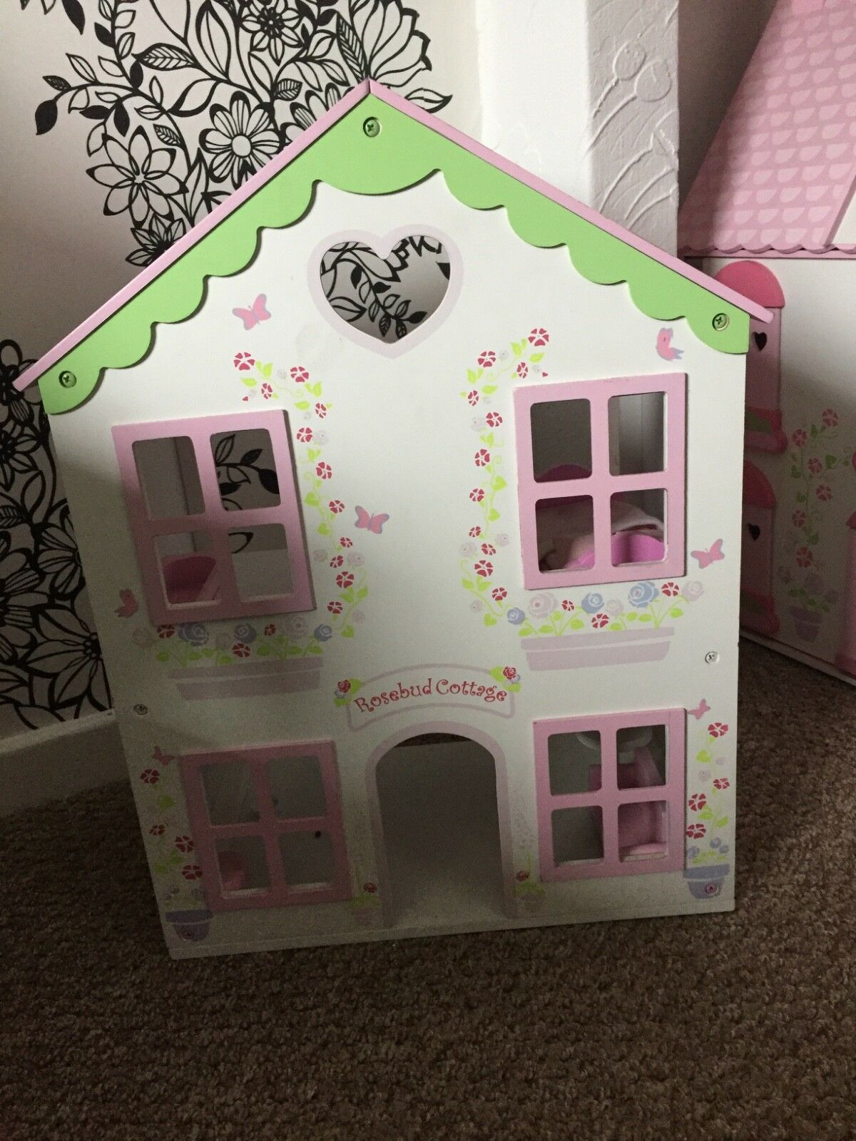 Early Learning Centre Dolls House, fully furnished with 3 families and pets.